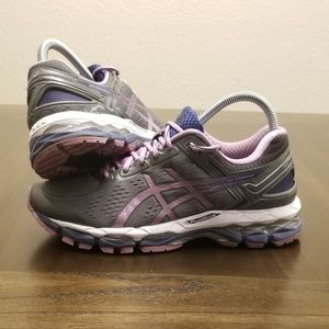 Asics Gel Kayano 22 Size 8 Grey Purple